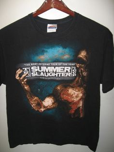 96fd30db37b Summer Slaughter Tour Heavy Metal Rock 2010 Concert Tour Decapitated T Shirt  Lrg  2010TheSummerSlaughterTour  GraphicTee