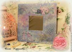 """Зеркала ручной работы. Ярмарка Мастеров - ручная работа. Купить Интерьерное зеркало """"Розовое очарование"""". Handmade. Mixed media"""