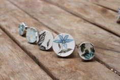 Beautiful line of antique porcelain rings.