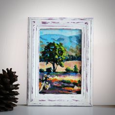 """Original Landscape Painting, """"Provence"""" Acrylic Painting, Landscape Art, Original Artwork, Wall Art Canvas, 10cm(w) x 15cm(h) by AngelinaRunkovaArt on Etsy"""