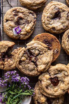 Magic Chocolate Chip Cookies   halfbakedharvest.com Magic Chocolate, Chocolate Chip Cookies, Coconut Chocolate, Chocolate Desserts, Chocolate Chips, Cupcakes, Just Desserts, Delicious Desserts, Delicious Cookies