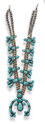 Bonhams : A Navajo squash blossom necklace
