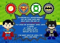 Superhero Justice League Birthday Party By CraftyPartyCreations 1200