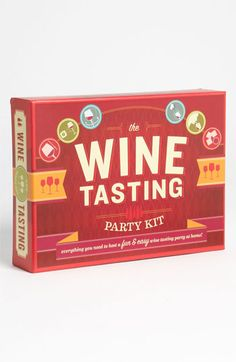 Wine Tasting Party Kit - great gift idea for a wine lover
