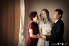 bride with parent