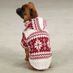 Casual Canine Snowdrift Cuddler Fleece Dog Hoodie at BaxterBoo