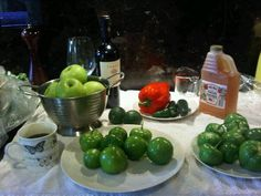 Prep ingredients for Tomatillo Apple Salsa.
