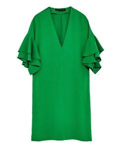 FRILLED-SLEEVE DRESS-Mini-DRESSES-WOMAN | ZARA United Kingdom