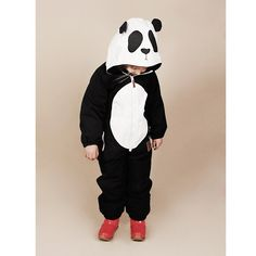 A panda snow suit. Adorable.