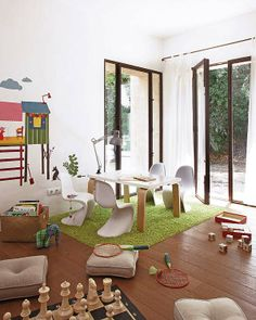 This play area is incorporated into an existing family space.