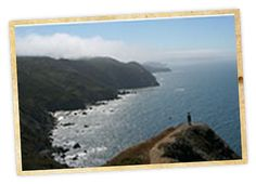HIKE: Marin Headlands, CA - Pirates Cove.  Pirates Cove is located 2.4 miles from the Tennessee Valley Trailhead off the Coastal Trail between Tennessee Beach and Muir Beach. This small, rocky cove features turbulent waters and picturesque sea stacks just off shore.