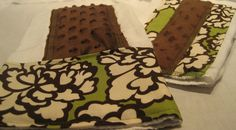 2 Chocolate & Verde Floral Burp Cloths by StitchofStyle on Etsy, $10.00