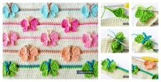 Crochet butterfly stitch can be used in many different project such as a baby blanket etc. Check out these Stunning Crochet Butterfly Blanket Patterns.