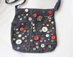 Recycling Jean-Handtasche zurückgefordert handgefertigten von Sisoi