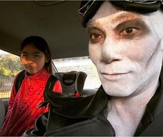 The dad who dropped off his daughter at school while cosplaying as a war boy from Mad Max: Fury Road: | 50 Absolutely Hilarious Parents Who Will Make You Pee-Laugh