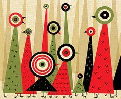 James Yang Owl Illustration, Illustrations, 2d Design, Graphic Design, I Like Birds, Art Object, Bird Art, Cool Art, Objects