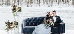 Snowy Bridals with Dusty Blues & Smoky Gray | The Perfect Palette