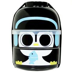 Cute 2 Tier Kids Bento Lunch Box Food Container Baby Ninja Penguin Japanese Love