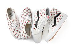 """While they often clash in hip-hop, sports, and fashion rivalries, the East and West Coasts are playing nice with the release of Vans's """"I Love New York"""" collection. Based on the iconic '70s logo design by Milton Glaser, the city-loving message will be splashed across two of the Cali-cool brand's styles. The pairs retail for $85 and $100, and are available on April 19 at vansdqm.com and at the DQM store in Soho. (Read: Not physically on the West Coast. Read: NY 1, CA 0)."""