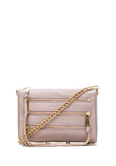 Rebecca Minkoff Mini 5 Zip in Tortora