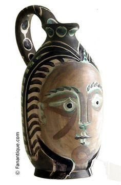 Picasso Sculpture   picasso pichet faience blanche femme du barbu 1953 artiste picasso ...
