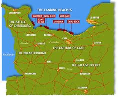 map of the d-day invasion