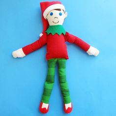 Image of Taffy The Elf  - PDF Elf Doll Sewing Pattern - Shelf Sitter