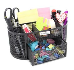 #Storage #Easypag focus on the office products, to create an easy,orderly and neat office environment. Easypag desk organizer 8-3/4 X 4-1/4 X 4 inch; Left & Righ...