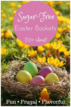 Learn how to fill your kids easter baskets with items that are healthy, but still delight them! 70+ fun, frugal, & flavorful ideas. IntoxicatedOnLife.com #Easter #EasterBaskets #HealthyKids