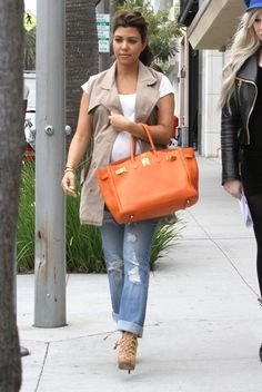 Pregnant Kourtney Kardashian Shopping In Beverly Hills