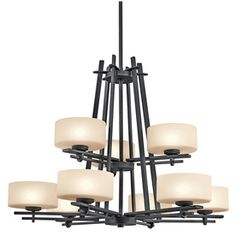 Portfolio�9-Light Natalia Distressed Black Chandelier