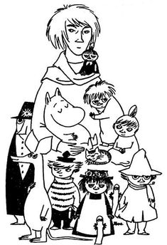 The Moomin Family by Tove Jansson Tove Jansson, Moomin Books, Les Moomins, Moomin Shop, Moomin Valley, Little My, Drawing S, My Idol, Troll