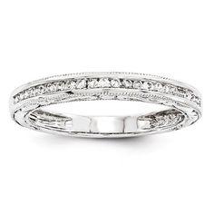 14k White Gold Diamond Wedding Band – Sparkle & Jade