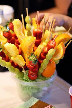 Espetadas de fruta