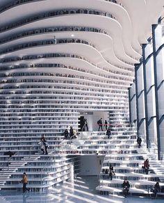 "11.4k Likes, 75 Comments - AXD (@artsxdesign) on Instagram: ""Tianjin Binhai Library, China via @highsnobiety // Photo by: @lielaine #artsxdesign"""