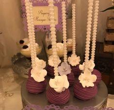 Wedding Desert Bar, Wedding Cake Pops, Candy Bar Wedding, Wedding Cookies, Bridal Shower Treats, Bridal Shower Desserts, Wedding Desserts, Bridal Showers, Cake Pop Bouquet
