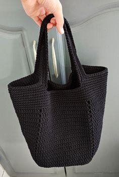 Crochet Beach Bags, Crochet Market Bag, Crochet Tote, Crochet Stitches, Knit Crochet, Crochet Square Patterns, Knitted Bags, Crochet Fashion, Knitting
