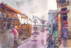 Zagreb akvarel Vlaška