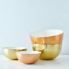 Copper, Brass, and Enamel Louise Bowls on Food52