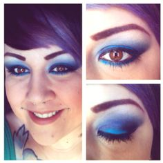 Blue MAC and Urban Decay smokey eye