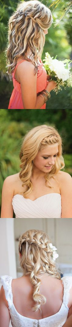 beach wedding bridal hairstyle