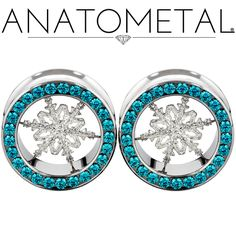 Anatometal Snowflake Eyelets are in implant grade stainless or solid 18 karat gold, and are hand-polished to a mirror finish.