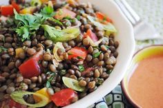 A taste of Thai meets a taste of Indian in this delicious and unusual lentil salad.