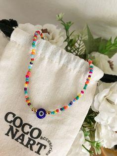 Handmade Wire Jewelry, Funky Jewelry, Resin Jewelry, Beaded Jewelry, Cute Necklace, Evil Eye Necklace, Pulseras Kandi, Diy Bracelets Easy, Beaded Choker