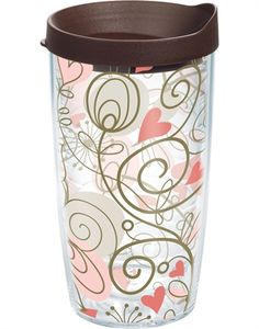 Tervis Tumbler Heart Wrap Vine with lid - Pink $15