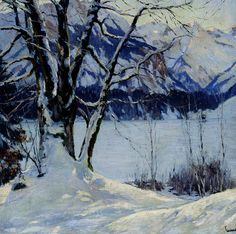 """""""We can best understand learning as growth, an expanding of ourselves into the world around us. We can also see that there is no difference between living and learning, that living is learning, that it is impossible, and misleading, and harmful to think of them as being separate."""" John Caldwell Holt   *A Frozen Lake In A Mountainous Winter Landscape by Edward Cucuel"""