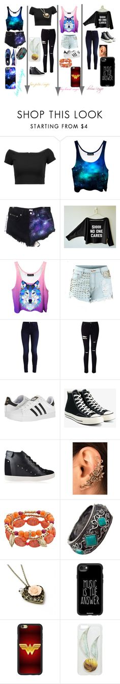 """""""band"""" by gemma-todd-1 on Polyvore featuring Alice + Olivia, Miss Selfridge, adidas, Vans, Converse, Giuseppe Zanotti, Casetify and Hot Topic"""