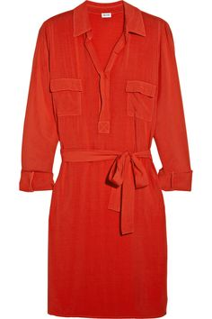 Splendid|Washed-crepe shirt dress|NET-A-PORTER.COM