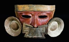 Teotihuacan mask of Azcapotzalco, San Miguel Amantla, Classical period, late Xolalpan phase, 450-550 A.D.