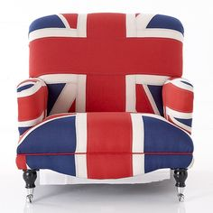 OVERSIZED UNION JACK ARMCHAIR WITH ANTIQUED FLAGS  £995.00